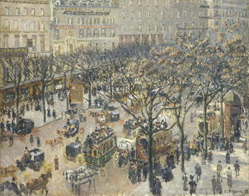 Boulevard des Italiens, Morning, Sunlight, 1897 Kunsttryk