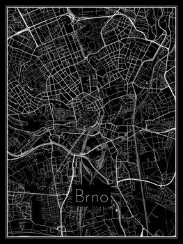 Stadtkarte von Brno