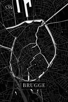 Stadtkarte von Brugge black