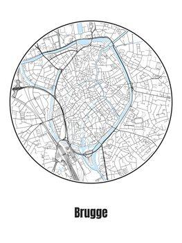 Mapa de Brugge