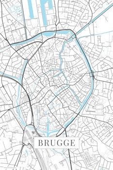 Stadtkarte von Brugge white