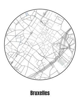 Mapa de Bruxelles
