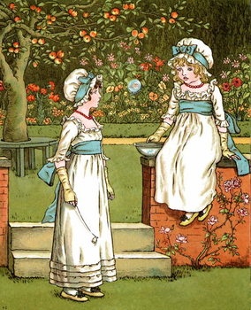 'Bubbles'  by Kate Greenaway. Kunstdruk