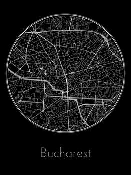 Mapa de Bucharest