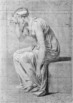 Reproducción de arte Camilla, study for 'The Oath of the Horatii', c.1785
