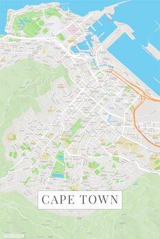 Mapa de Cape Town color