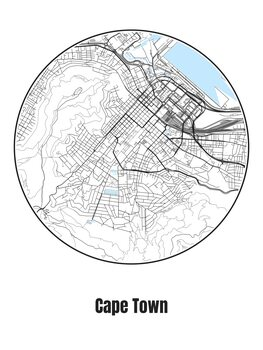 Mapa de Cape Town