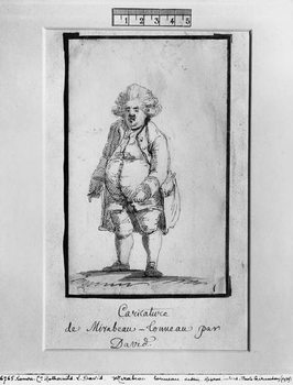 Caricature of Andre Boniface Louis of Riqueti, Viscount of Mirabeau, nicknamed Mirabeau-Tonneau Kunstdruck