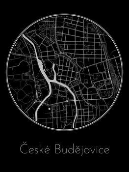 Kaart van České Budějovice