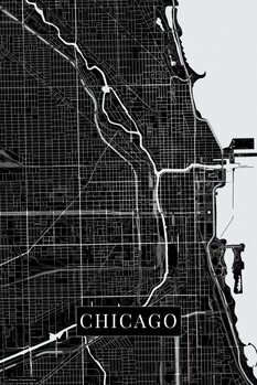 Mapa Chicago black