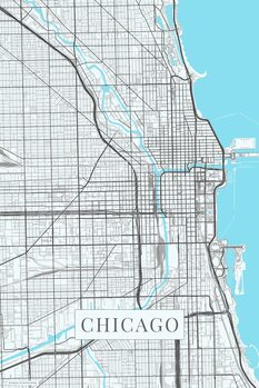 Mapa Chicago white