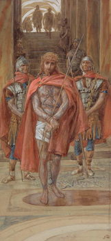 Christ Leaves the Judgement Hall, illustration for 'The Life of Christ', c.1886-94 Reproduction de Tableau