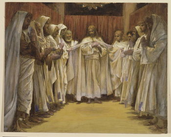 Christ with the twelve Apostles, illustration for 'The Life of Christ', c.1886-96 Reproduction de Tableau