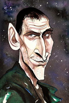 Christopher Eccleston as Doctor Who  in BBC television series of same name Reproduction de Tableau