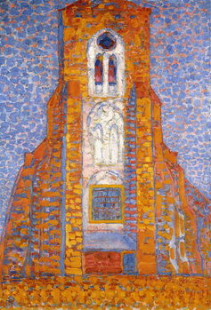Church of Eglise de Zoutelande, 1910 Reproduction de Tableau