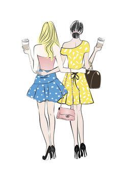 Ilustración Coffee friends1