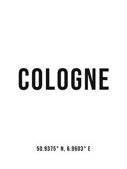 Ilustrácia Cologne simple coordinates