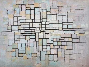 Reproducción de arte Composition No 11 in grey, pink and blue, 1913, by Piet Mondrian , oil on canvas. Netherlands, 20th century.