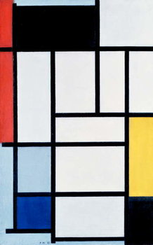 Composition with red, yellow, and blue, 1921 Reproduction de Tableau