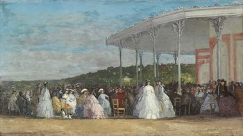 Concert at the Casino of Deauville, 1865 Reproduction de Tableau