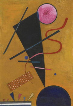 """""Contact"""" Peinture de Vassily Kandinsky  1924 Collection privee Kunstdruck"