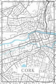 Mapa de Cork white