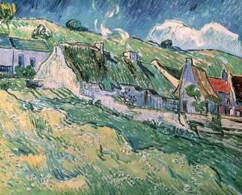 Cottages at Auvers-sur-Oise, 1890 Kunsttryk