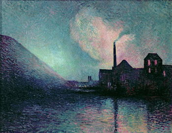 Couillet by Night, 1896 Kunstdruk