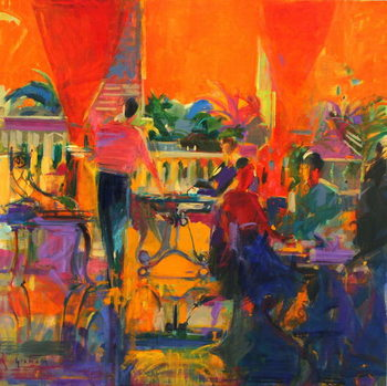 Courtyard Cafe, Tunis Kunstdruck