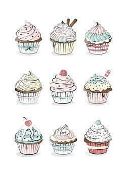 Ilustración Cupcakes
