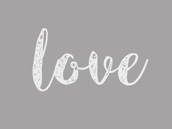 Illustration Cursive grey love