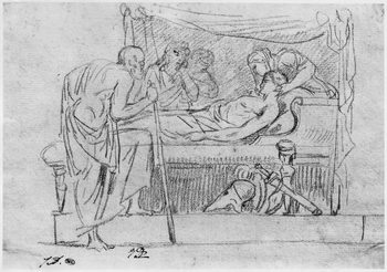 Death of Meleager Reproduction de Tableau