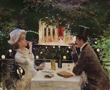 Dinner at Les Ambassadeurs, c.1882 Kunstdruk