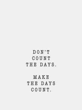 Ilustración dont count the days