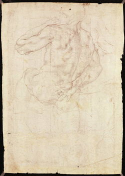Reproducción de arte Drawing of a male standing figure