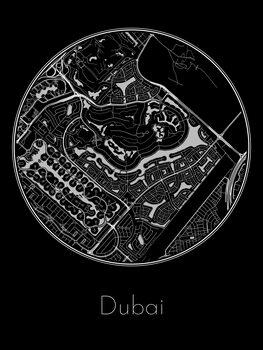 Carte de Dubai