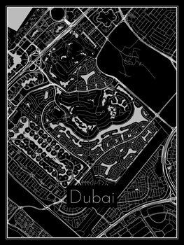 Stadtkarte von Dubai