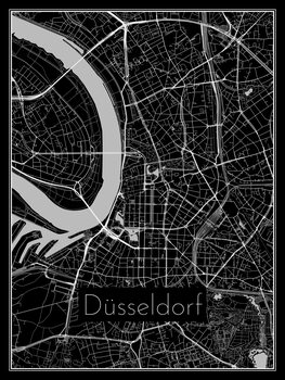 Mapa de Düsseldorf