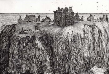 Dunottar Castle, 2007, Reproduction de Tableau