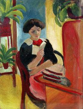 Elizabeth Reading Kunstdruck
