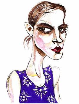 Reproducción de arte Emma Watson -  caricature