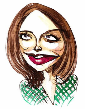 English actress Jenna-Louise Coleman ; caricature Obrazová reprodukcia