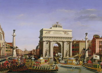 Entry of Napoleon I (1769-1821) into Venice, 1807 Reproduction de Tableau