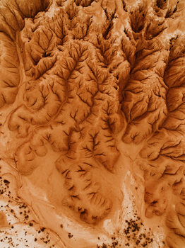 Kunst fotografie Eroded desert in spain