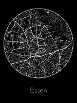 Stadtkarte von Essen