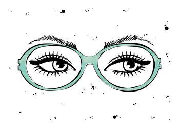 Ilustración Eye glasses
