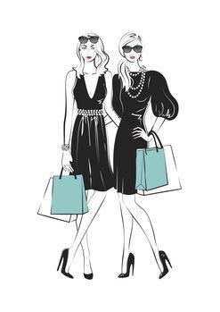 Ilustración Fashion friends