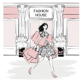 Ilustración Fashion House