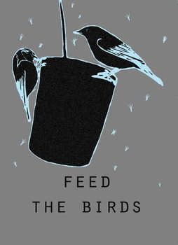 Feed the birds Kunstdruck