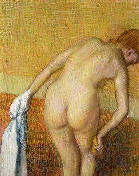 Femme Prennant au Bain, 1886 Kunstdruk